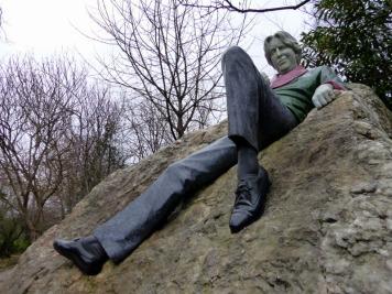 Oscar Wilde Memorial in Merrion Square - Dublin