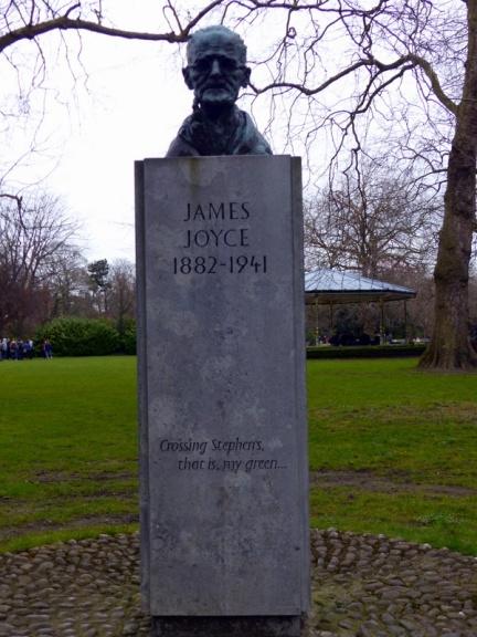 James Joyce's bust in St Stephen's Green - Dublin