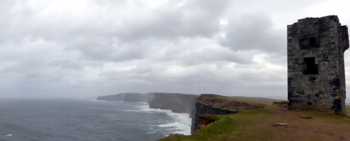 Moher Tower in Hag's Head - Cliffs of Moher, County Clare