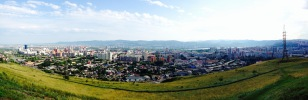 Krasnoyarsk city overview from Karaulnaya Hill