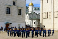 Changing of the guard at Sobornaya Square, the Kremlin