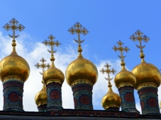 Detail from Church roof at The Kremlin