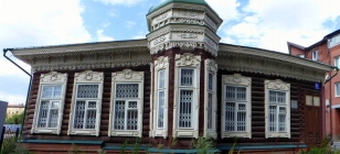 Traditional wooden house, Novosibirsk