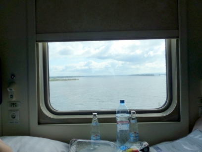 Crossing Yenisei river