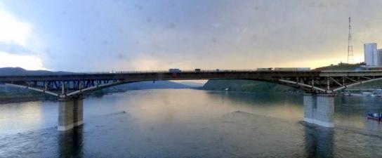 Crossing Ob river