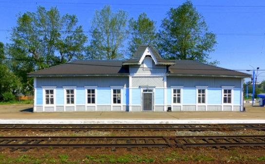 Little train station in Siberia