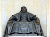 Chinggis Khan statue at the Government House