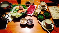 A meal for two at Bull hot-pot restaurant, Ulan Baatar