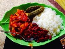 Earthy Mongolian lunch on the way