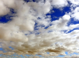 Cloudy sky over the Gobi