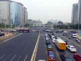 An avenue in central Beijing