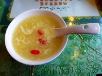 Corn soup from Crescent Moon Muslim Restaurant, Beijing