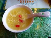 Corn soup from Crescent Moon Muslim Restaurant, Beijing